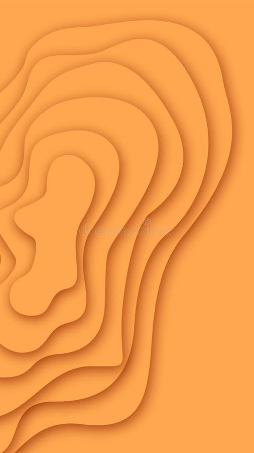 Papercut denomina texturas para o fundo e o papel de parede ilustração royalty free