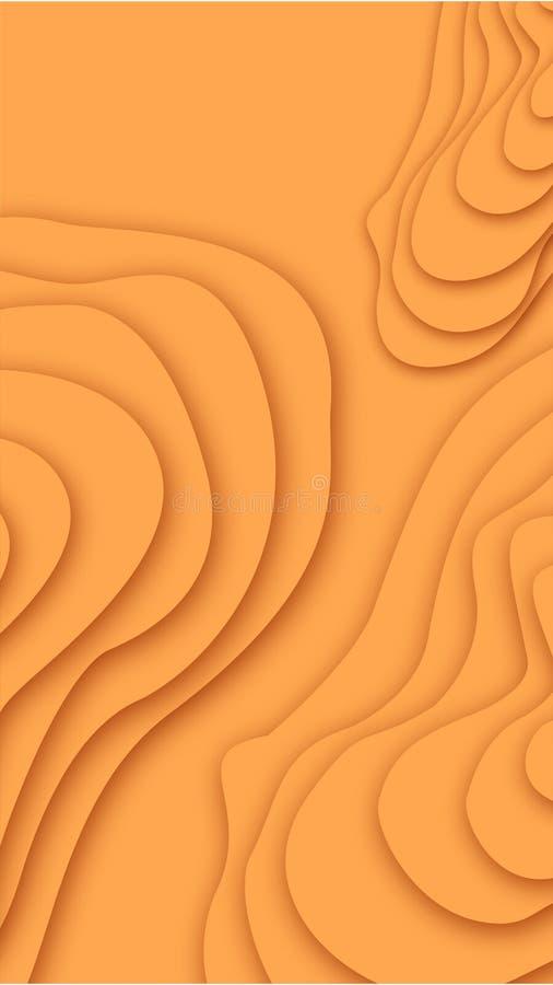 Papercut disegna le strutture per fondo e la carta da parati illustrazione vettoriale