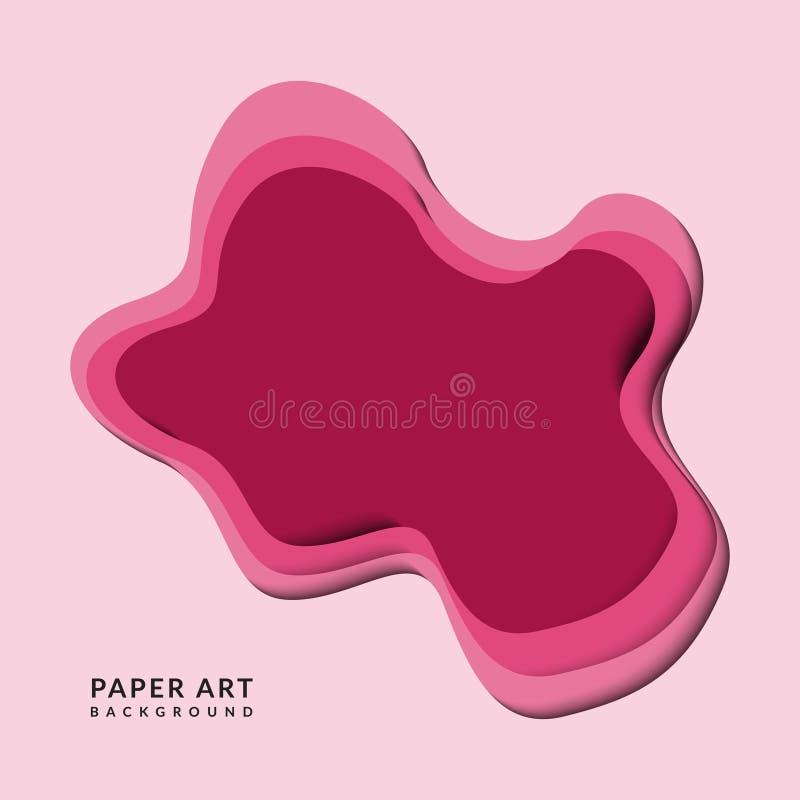 Papercut rose abstrait illustration de vecteur