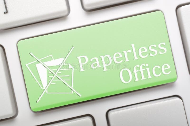 Paperless kontor royaltyfri illustrationer