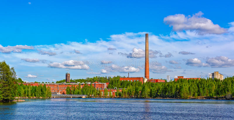 Papermill σε Kuusankoski, Φινλανδία στοκ φωτογραφία με δικαίωμα ελεύθερης χρήσης
