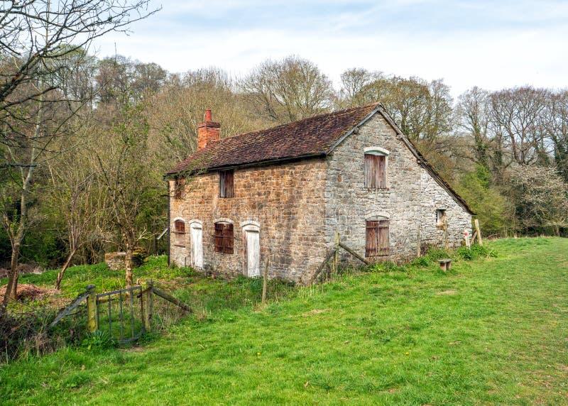 Papermillplattelandshuisje op het Natuurreservaat van Knapp en Papermill- royalty-vrije stock fotografie