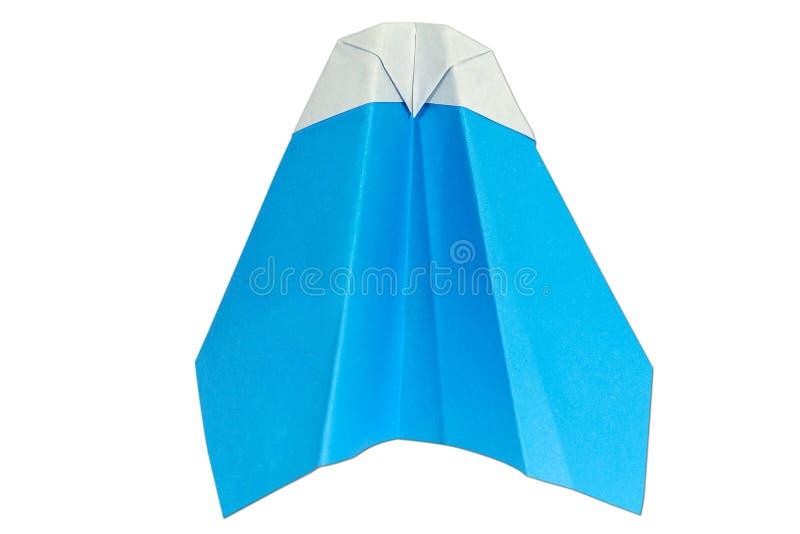 Paperplane em um fundo branco imagem de stock royalty free