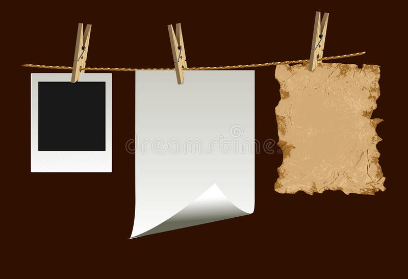 Papers stock illustration