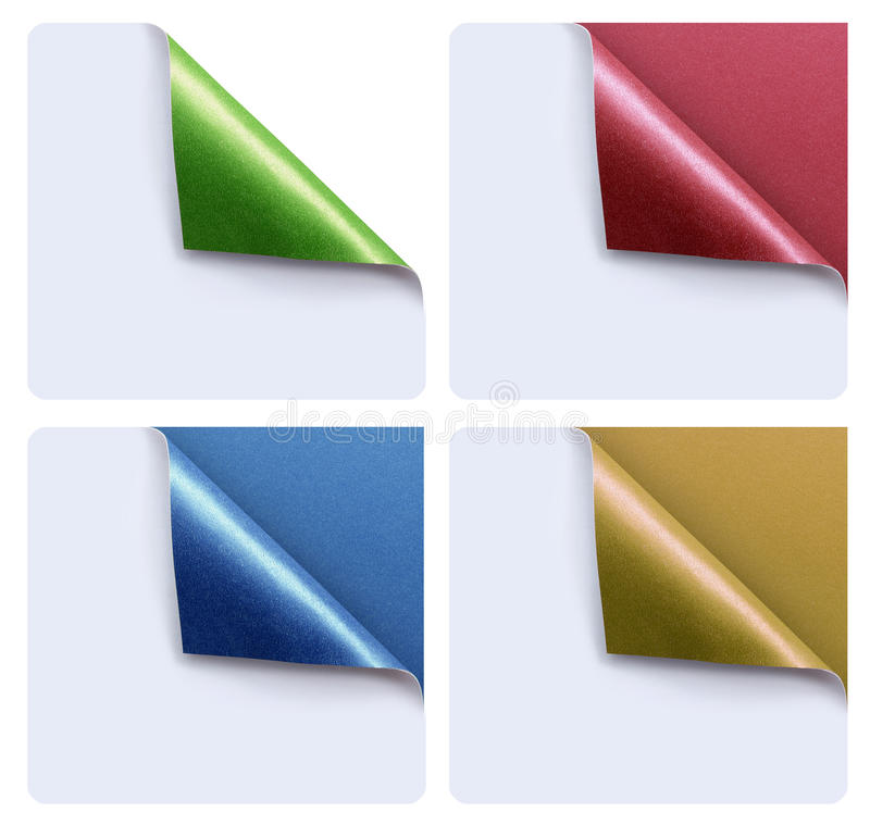 Download Papers with a curl stock photo. Image of colorful, abstract - 30439370