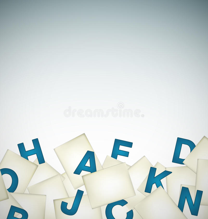 Papers with letters background royalty free illustration