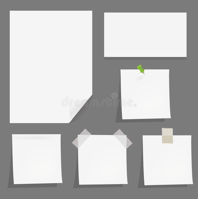 papers vektorn vektor illustrationer