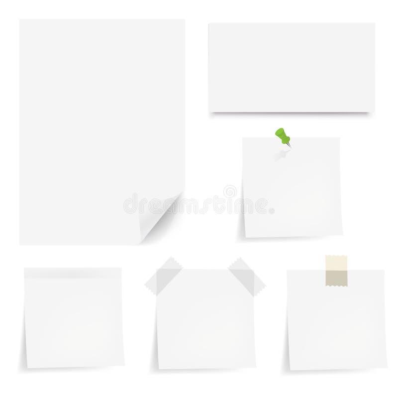 papers vektorwhite vektor illustrationer