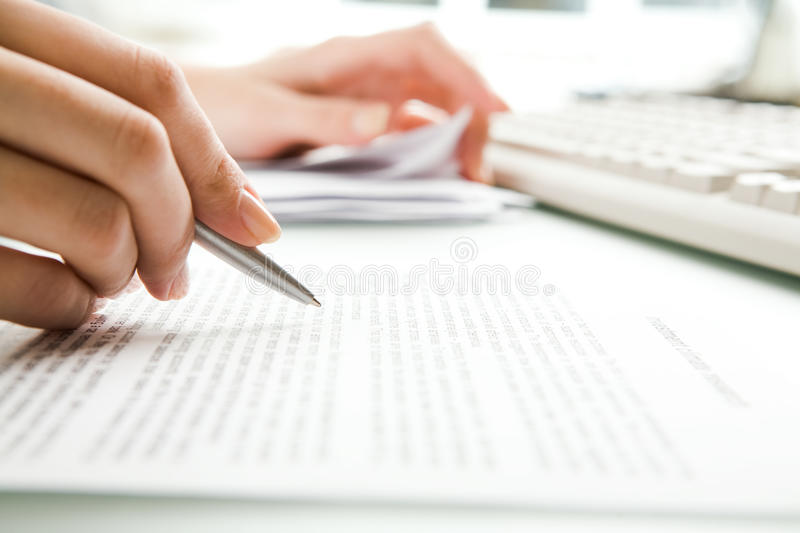 Download Paperwork stock image. Image of accountant, letter, finger - 10919315