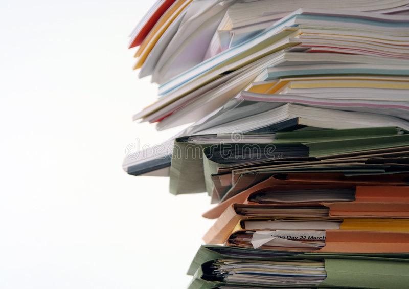 Download Paperwork stock photo. Image of paper, paperwork, folders - 1210096