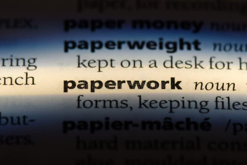 paperwork imagem de stock royalty free