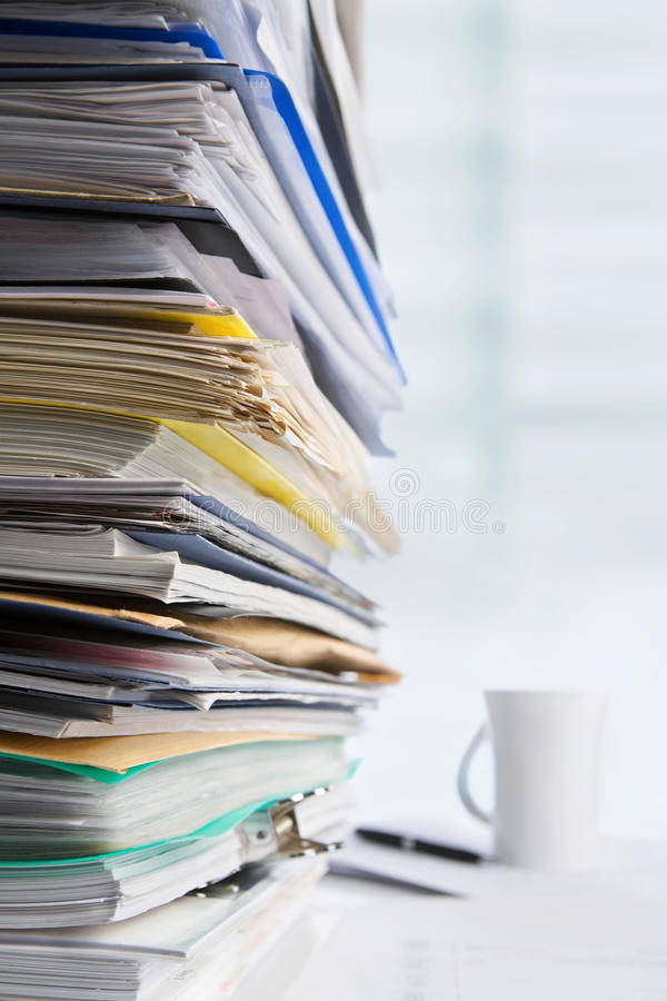 Download Paperwork stock image. Image of exhausted, background - 14020285
