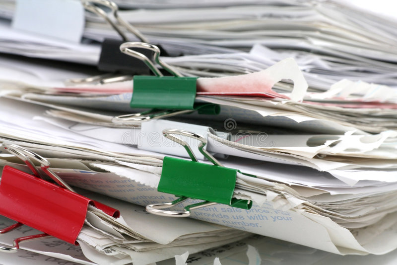 Paperwork. Filing document, concept of paperwork royalty free stock photos