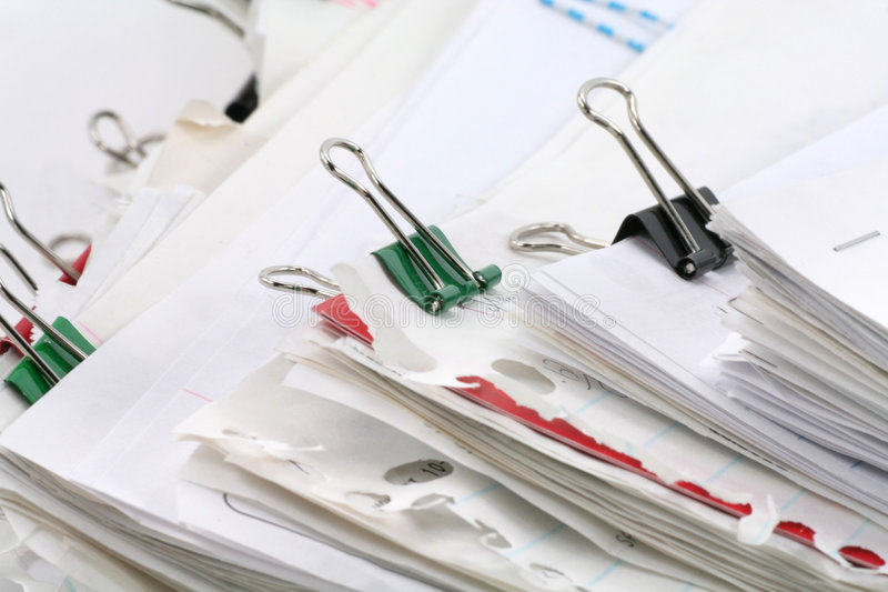 Paperwork. Filing document, concept of paperwork stock images