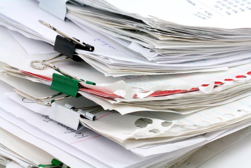 Paperwork. Filing document, concept of paperwork stock photos