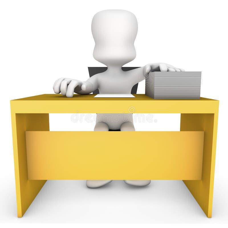 Download Paperwork stock illustration. Image of sitting, educator - 24171714