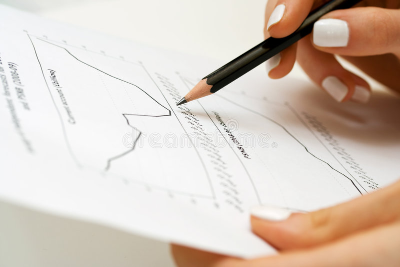 Download Paperwork. stock photo. Image of analysis, female, growth - 9252042