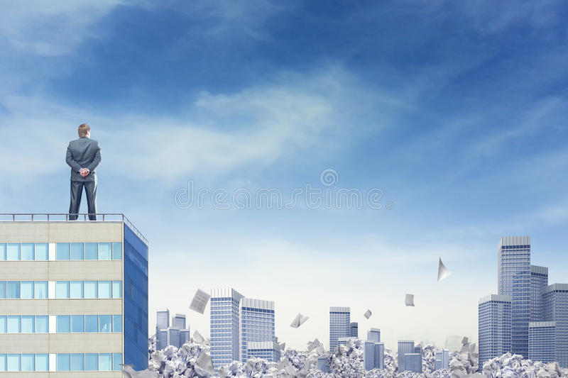 Paperwork in big city royalty free stock image