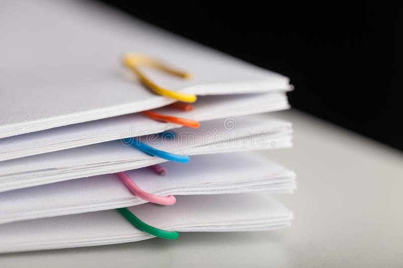 Paperwork. Paper balance business data document education royalty free stock photos