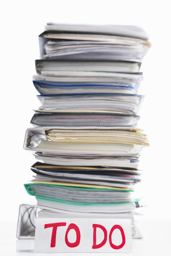 Download Paperwork to do stock photo. Image of selective, object - 14018688