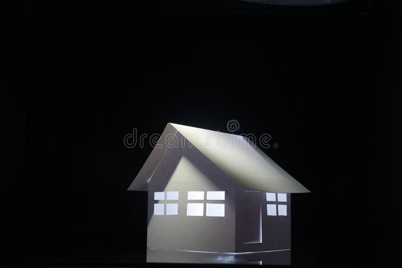 Papery Haus lizenzfreies stockbild
