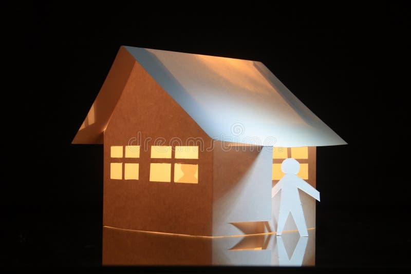 Papery Spielzeughaus lizenzfreies stockbild