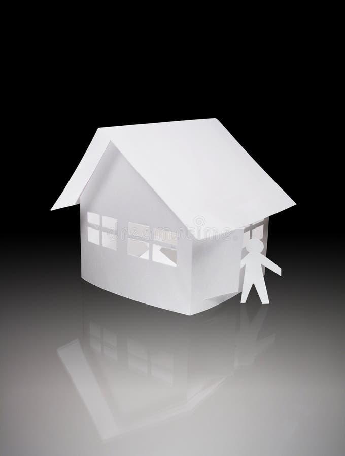 Papery Spielzeughaus stockbild