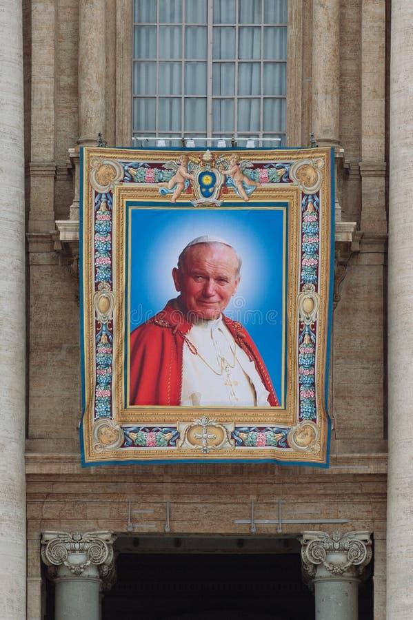 Papes John XXIII et John Paul II à canoniser photographie stock