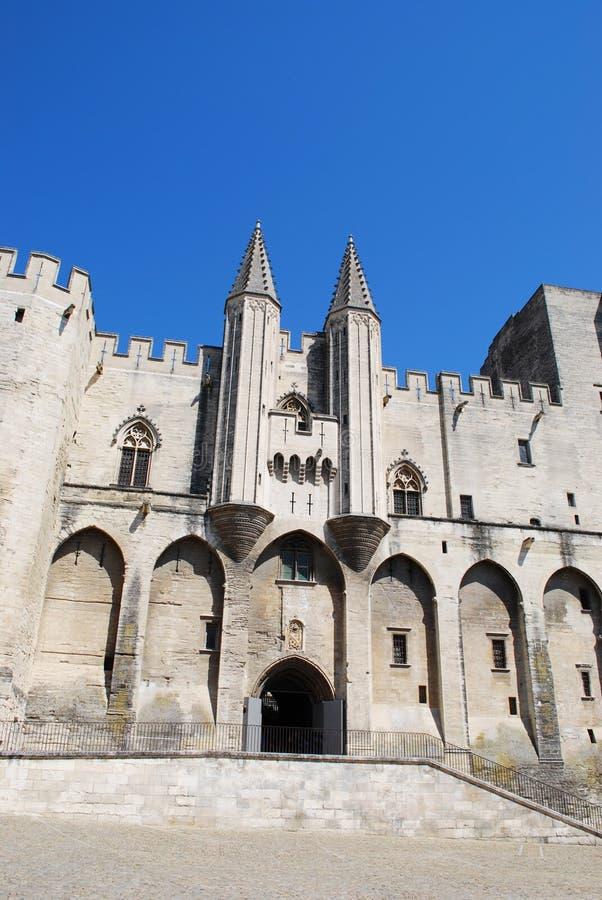 Papes Palace à Avignon images libres de droits
