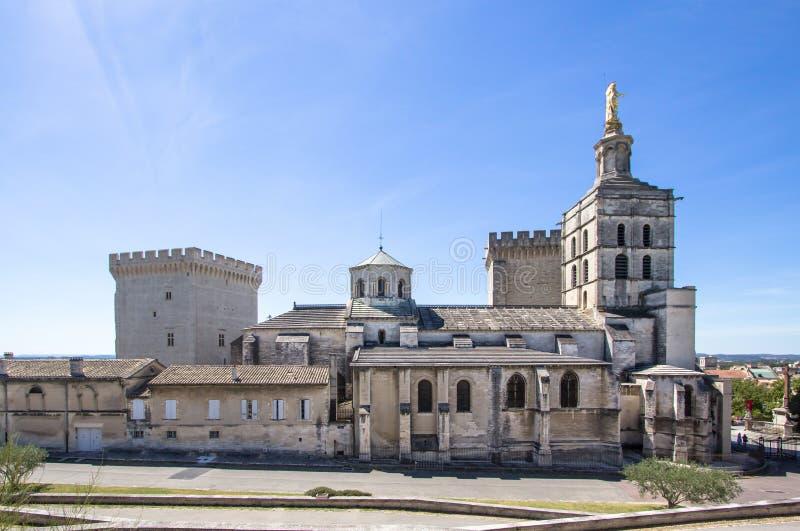 Papes Palace à Avignon, France image libre de droits