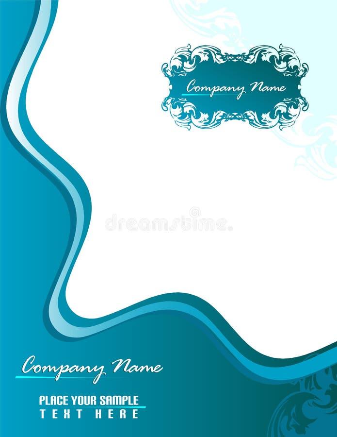 Papeterie bleue 8.5x11 d'affaires illustration stock