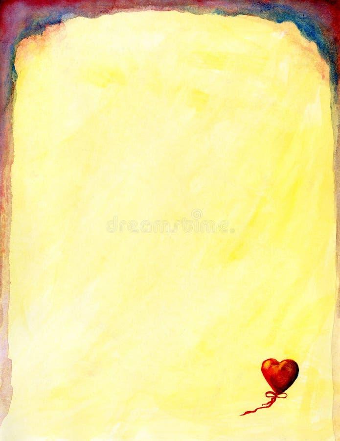 Download Papeterie D'aquarelle De Coeur Illustration Stock - Illustration du lumineux, retrait: 91852