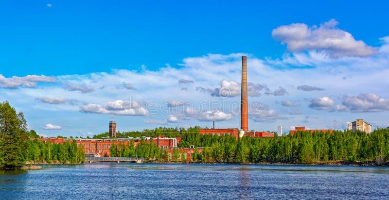 Papeterie dans Kuusankoski, Finlande photographie stock libre de droits