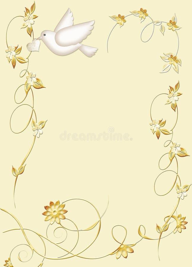 Papeterie de colombe de blanc illustration libre de droits