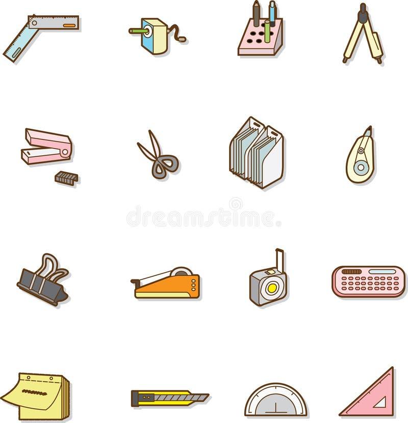 Papeterie mignonne de dessin animé illustration stock