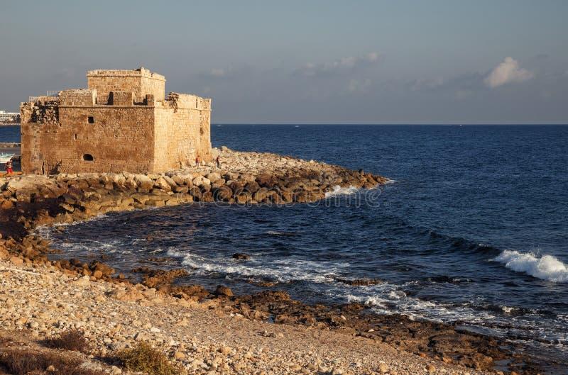 Paphos Średniowieczny fort Paphos przyciąganie zdjęcia royalty free