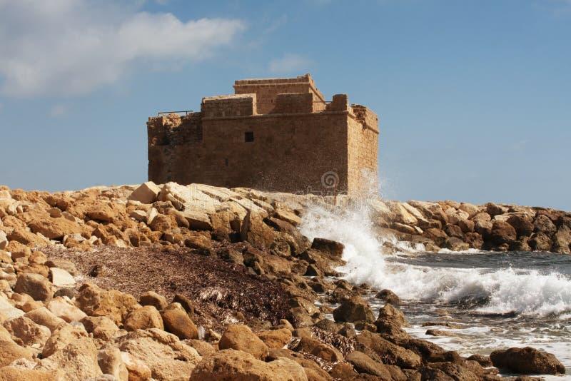paphos замока стоковое фото