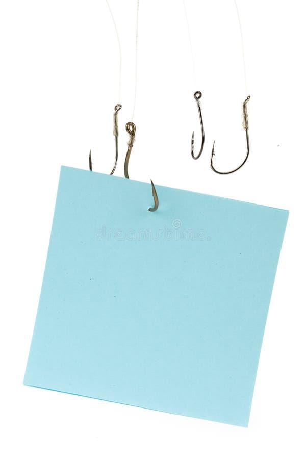 papier à lettres d'hameçon image stock