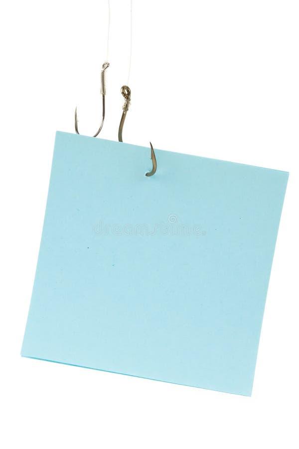 papier à lettres d'hameçon photographie stock libre de droits