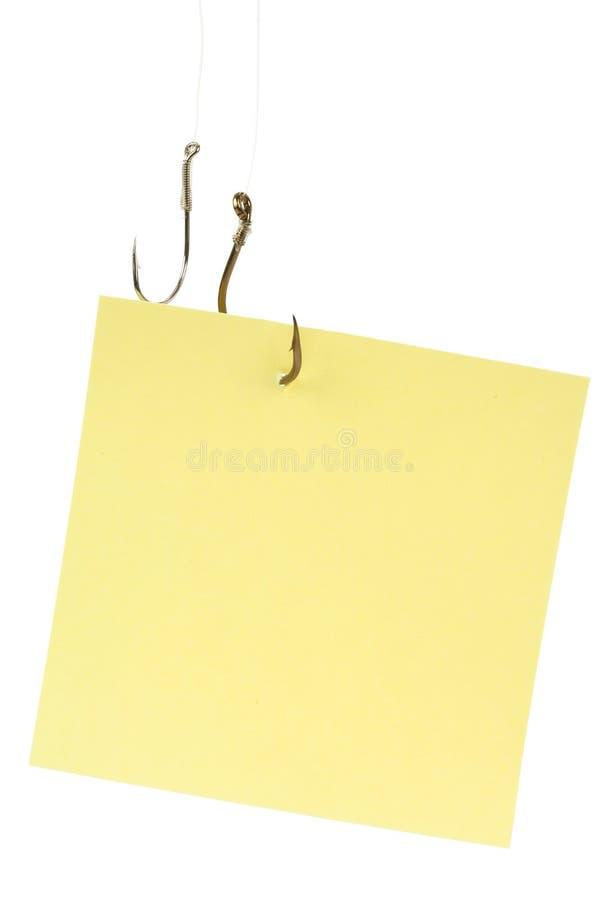 papier à lettres d'hameçon photographie stock