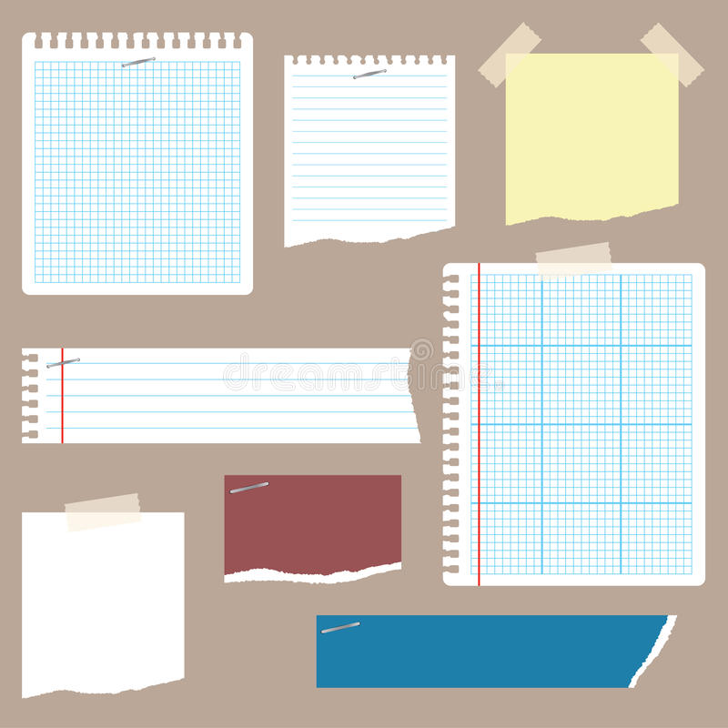 Papier à lettres et griffonnages illustration stock