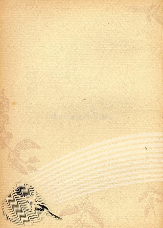 Papier âgé avec le deco de café image libre de droits