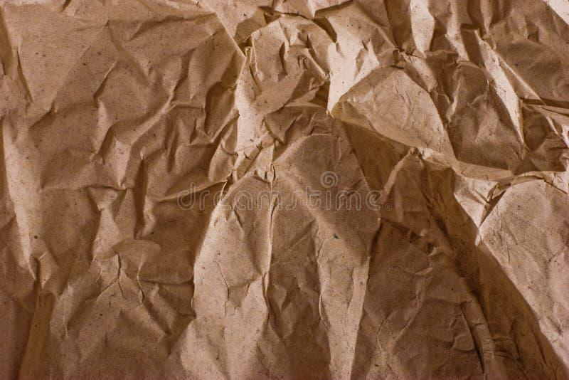 Papier écrasé photographie stock