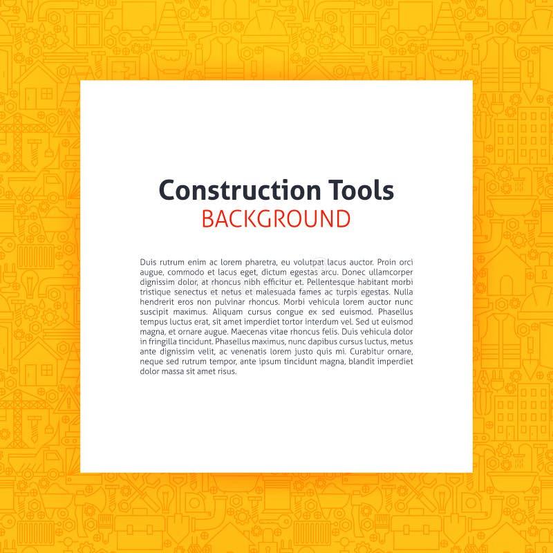 Papier über Bau bearbeitet Linie Art Background stock abbildung