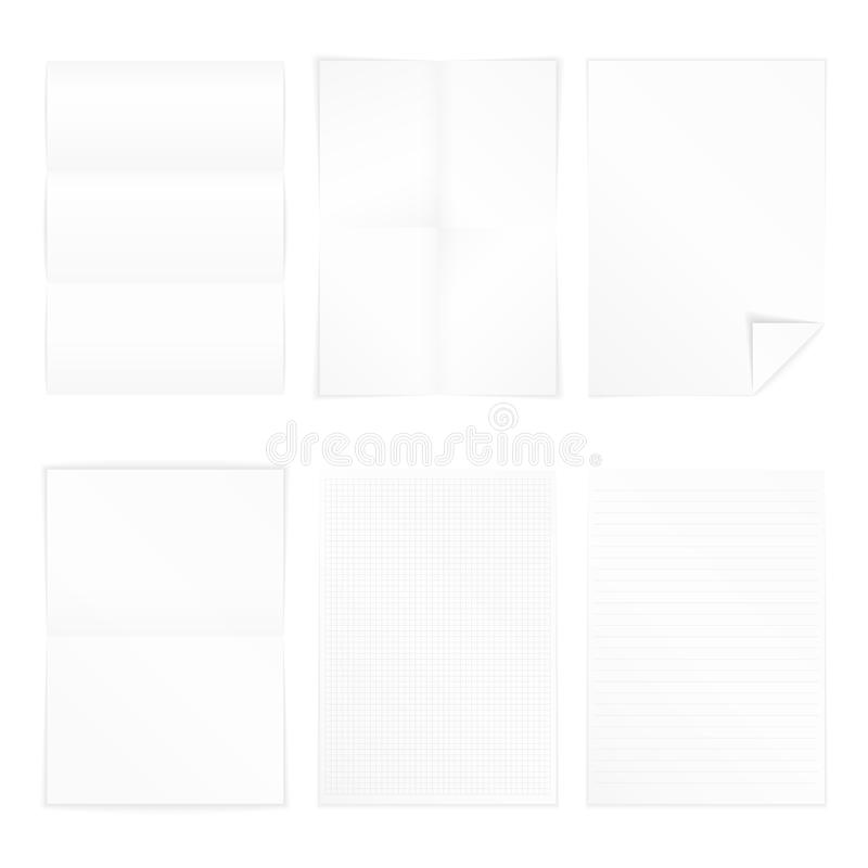 Papier A4 illustration stock