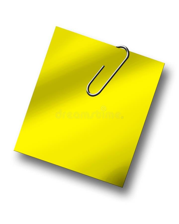 Papier angehalten durch Papierklammer stock abbildung