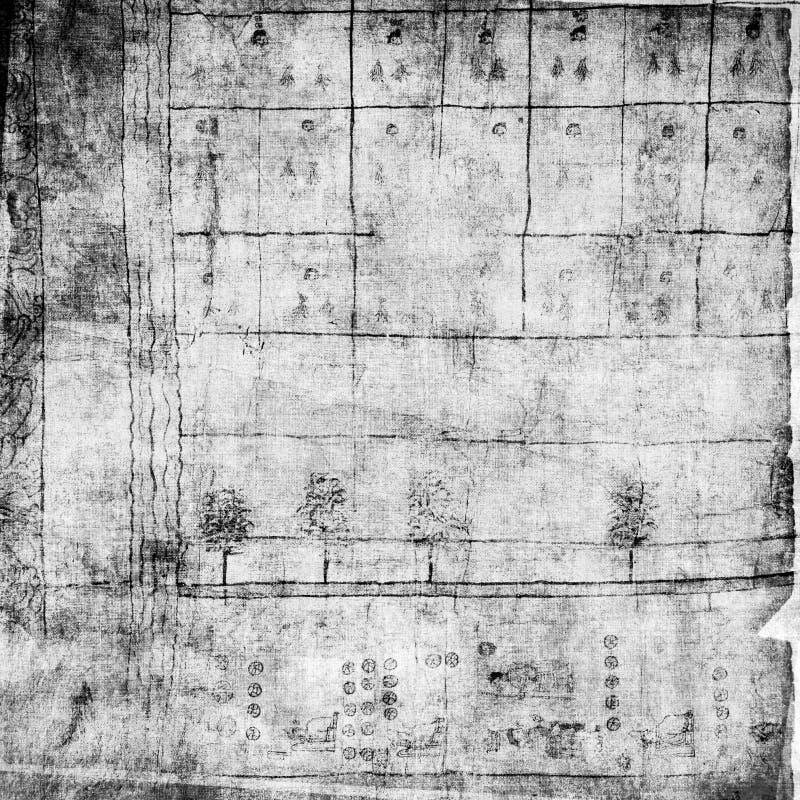 Papier antique des textes de parchemin illustration stock