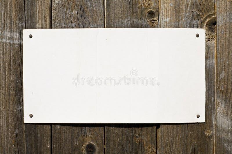 Papier auf Brown-Holz-Beschaffenheit stockfotos