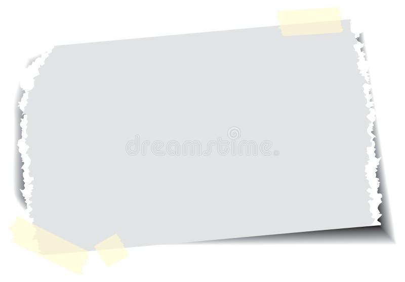 Papier avec la bande collante illustration de vecteur