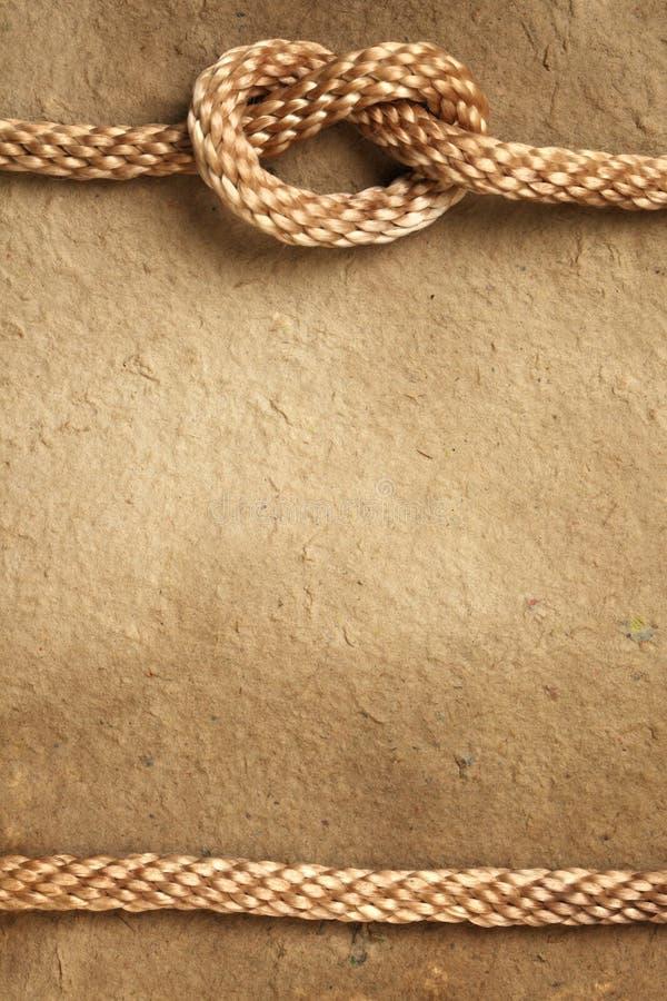 Papier avec le cadre de corde image stock